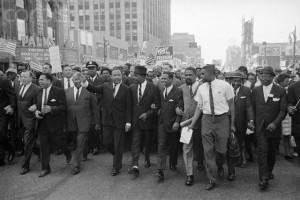 23 Jun 1963, Detroit, Michigan, USA --- Martin Luther King Jr Leading March in Detroit --- Image by © Bettmann/CORBIS