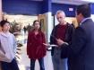 Dr. Ruiz speaks with prospective Spartan families.