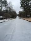 Neighborhood roads lie untouched by cars as citizens stay home and off the roads