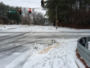 Crews attempted to clear the intersection of Spalding and Roberts, but their efforts were overridden by Mother Nature within an hour. Clearing is set to resume the morning of Thursday, February 13.