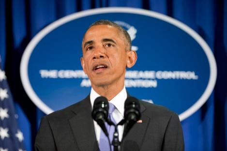 President Obama addresses the audience (Credits: Pablo Martinez Monsivais)