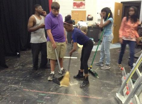 Students hard at work preparing for Eurydice