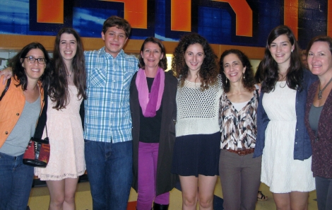 New Spartan NHS members - all juniors, with their mothers -   Jennifer Szabo and Abi Szabo, Emil and Susan Muly, Rebecca and Ariane Neish, and Alice Ann and Beppie Lever.
