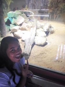 Jazmine poses with animals!