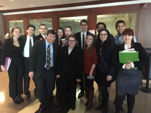 The North Springs Mock Trial team competed recently at the Atlanta regional