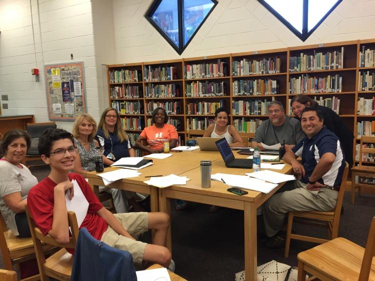 Members of SGC hard at work, August 2015 meeting